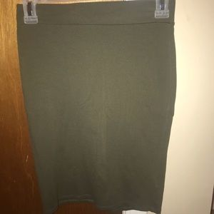Dresses & Skirts - fitted dark green pencil skirt